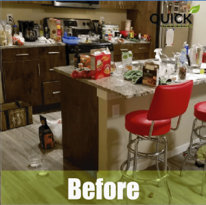 Room before airbnb cleaning service